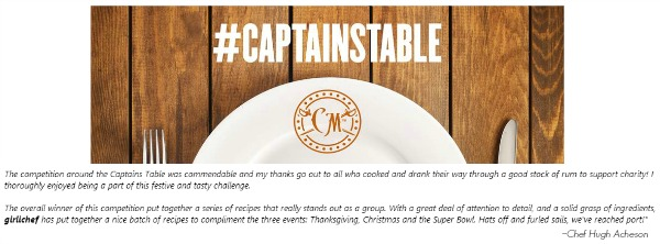 Captain Morgan's Captains Table Challenge Overall Winner - girlichef