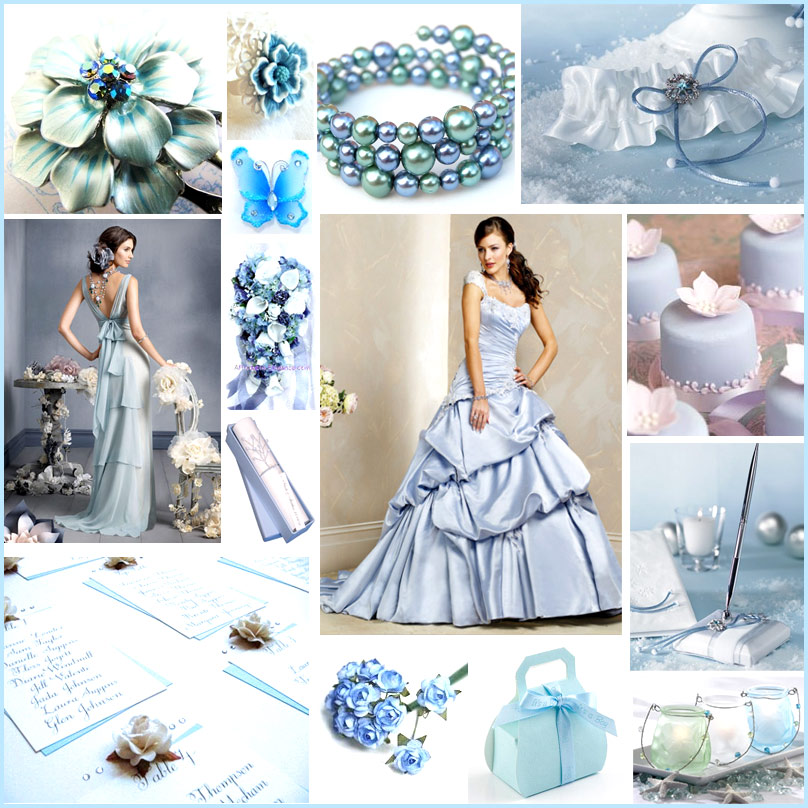 Why wear white when you can wear an ice blue gown This wedding is going to