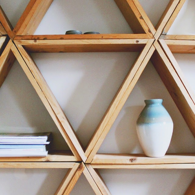 #thriftscorethursday Week 53 | Instagram user: annabode shows off this Triangle Shelves