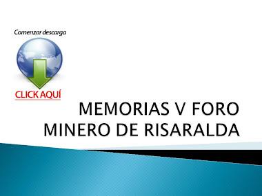 MEMORIAS V FORO MINERO DE RISARALDA