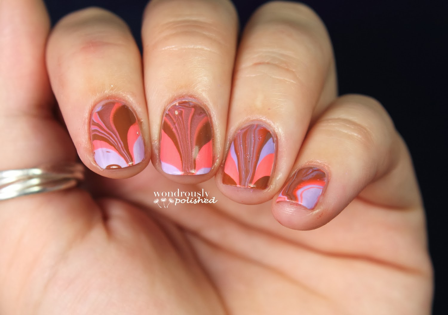 Wondrously Polished: 31 Day Nail Art Challenge - Day 20: Water Marble