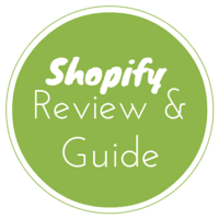 Shopify Review And Guide Text In Green Circle