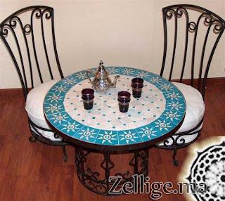 La table marocaine d coration salon marocain moderne 2016 for Table marocaine