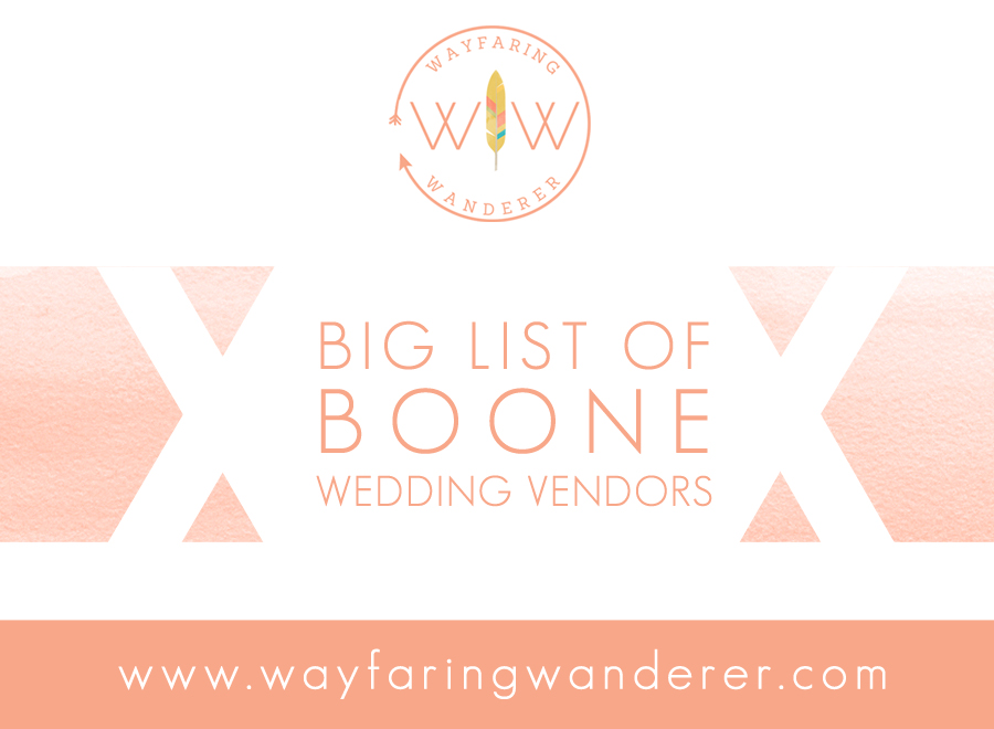 Wayfaring wanderer big list of boone wedding vendors nc magical things happen when you get an awesome group of wedding vendors together which is why this list exists junglespirit Image collections
