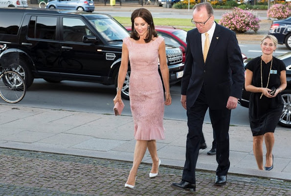 Princess Mary and Queen Maxima wore Valentino pink lace dress