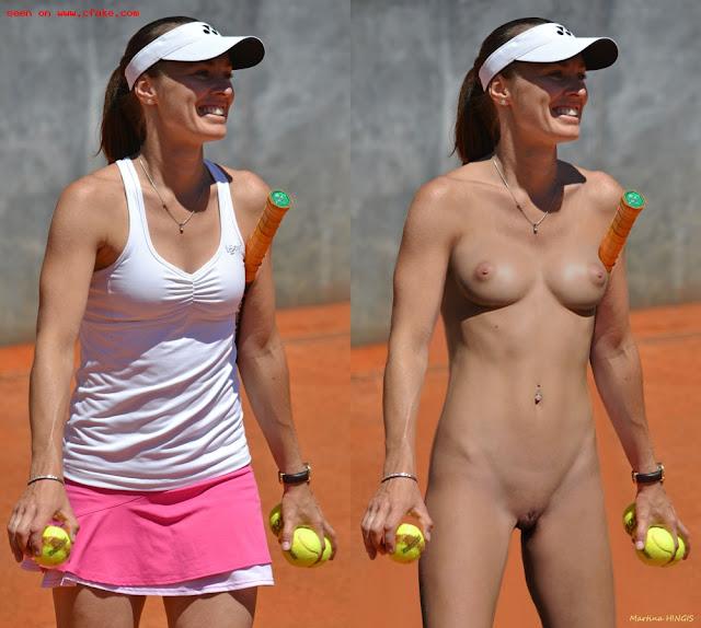 tenista Martina Hingis pelada nua