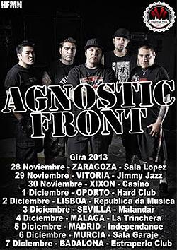 Gira de Agnostic Front por España y Portugal