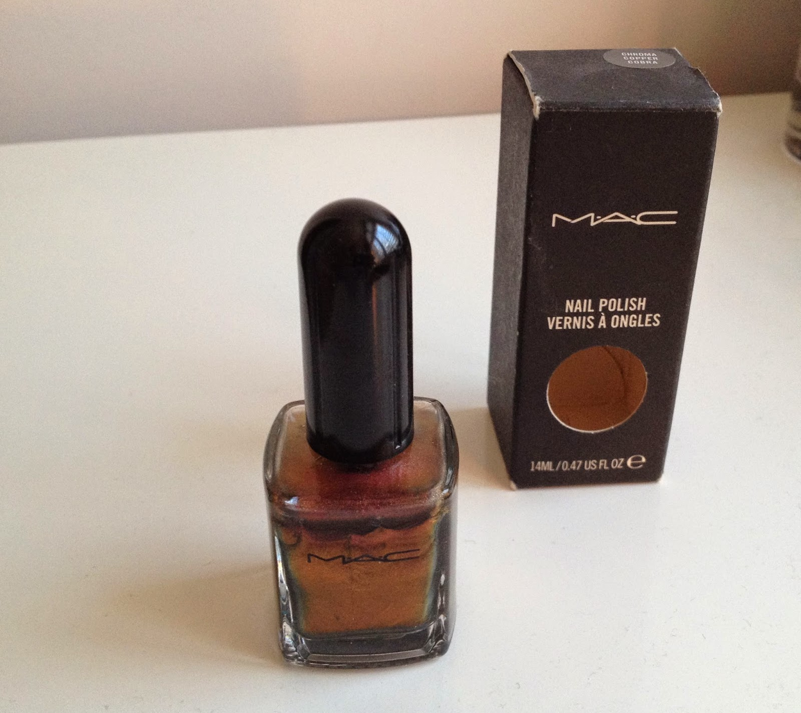 MAC Chroma Copper Cobra Nail Polish