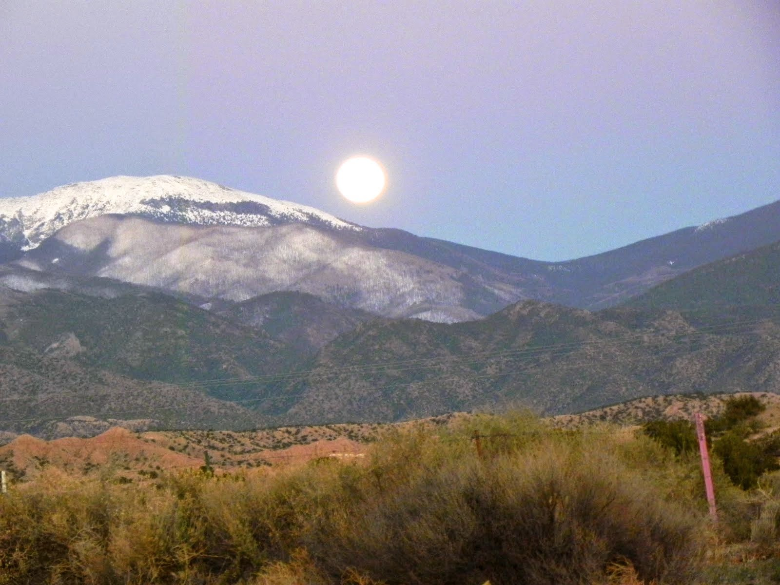 Moon over the Sangre de Christo Mountains