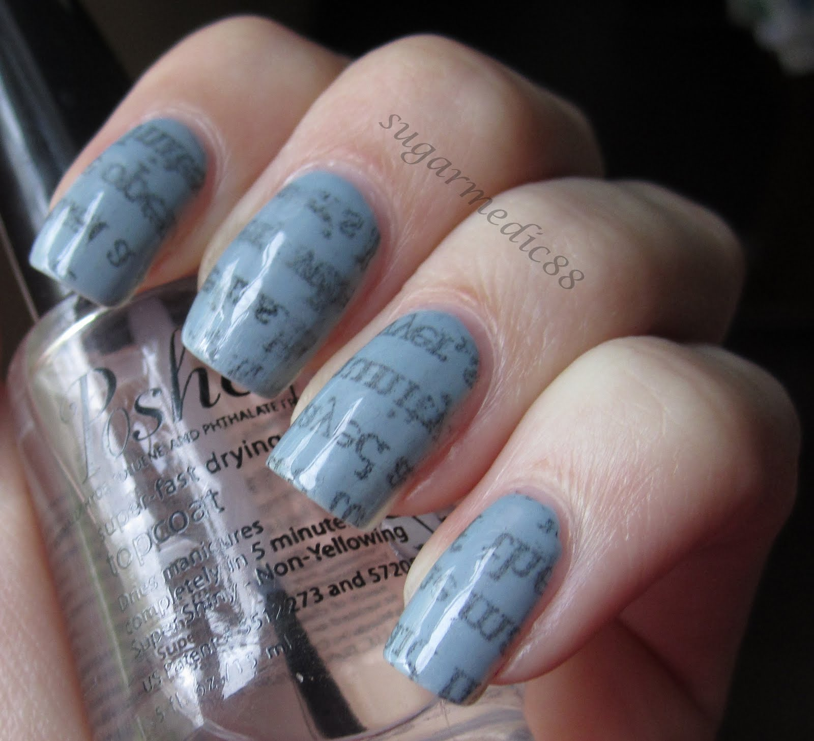 The Polished Medic: Newspaper Nails (with Tutorial; alternative method)