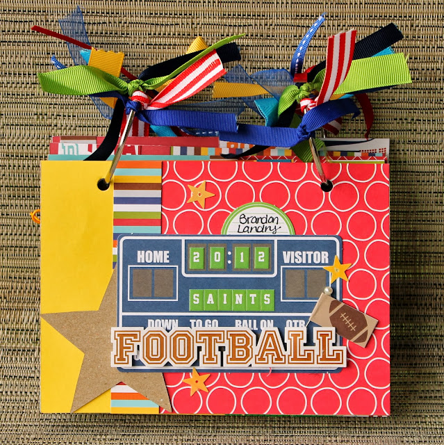 Football_Mini Album_Saints_Kid_Scrapbook