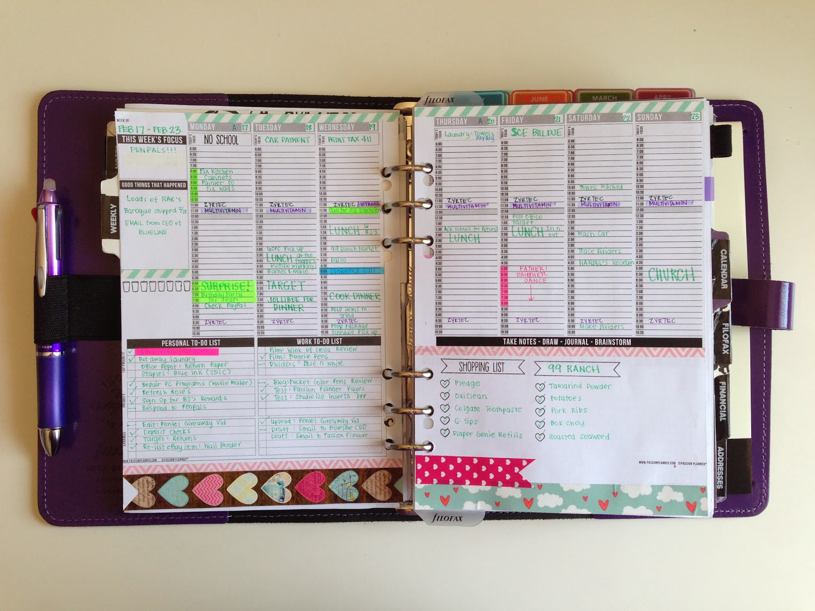 have also been using these pages from www passionplanner com for my ...