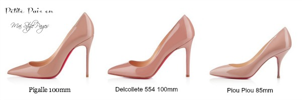 christian louboutin 100mm vs 120mm