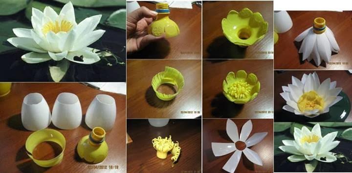 Цветок из пластиковых бутылок своими руками мастер класс 48