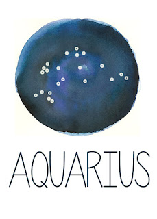 Aquarius Constellation Printable from Spool and Spoon (www.spoolandspoonblog.com)
