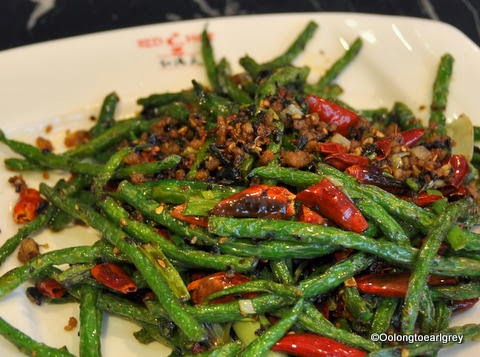 Red N Hot Dry fried green beans with minced pork