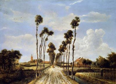 El carreró a Middelharnis (Meindert Lubbertsz Hobbema)