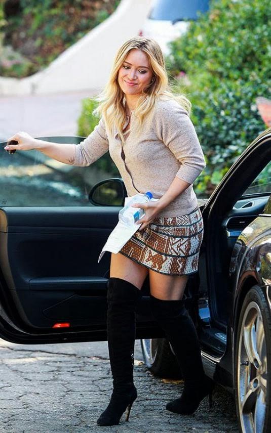 Knee High Boots Short Skirt
