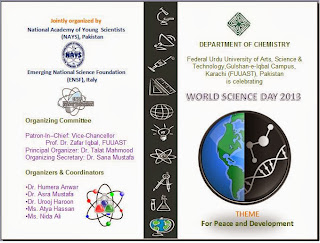 Worls Science Day 2013 Celebratiions