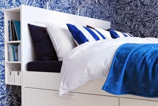 Ikea Bed Headboard Storage