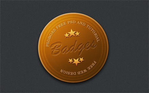 Free PSD Brown Badges