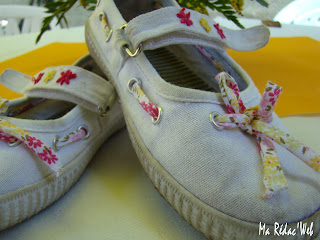 Chaussures en toile customisées