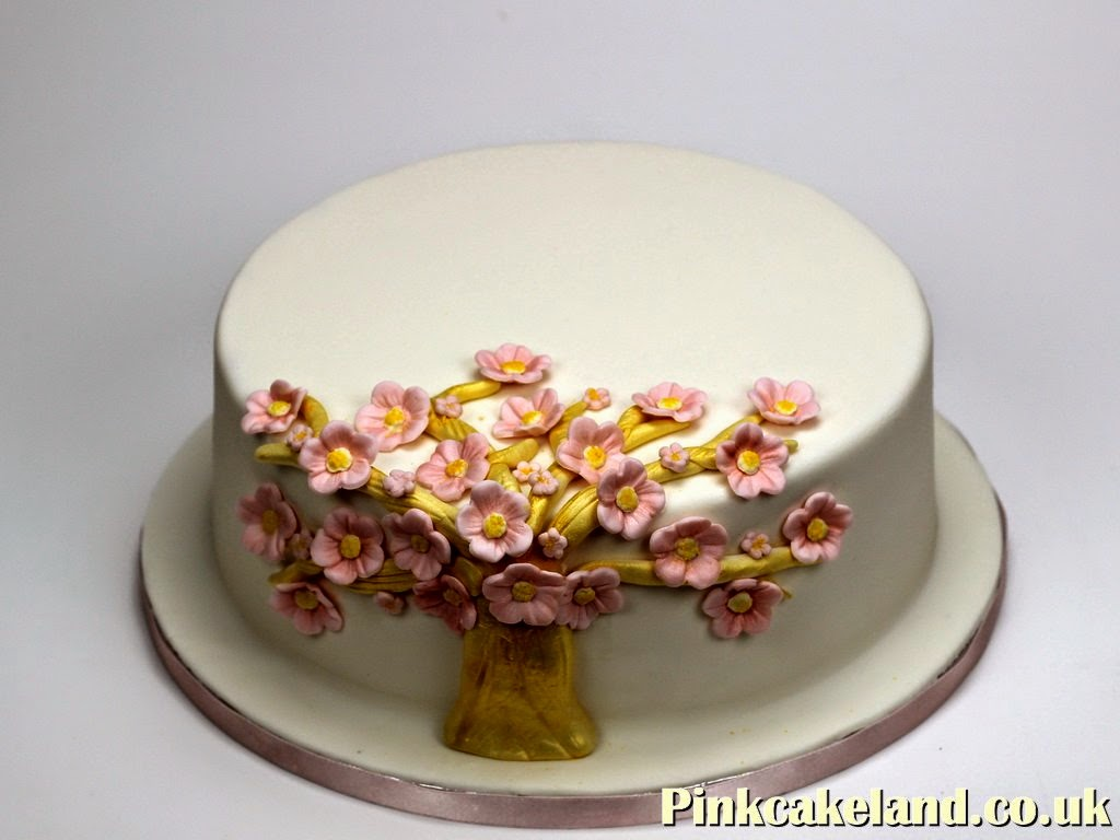 Golden Tree Birthday Cake, London