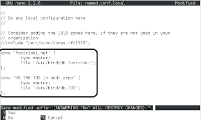 Konfigurasi DNS Server Debian 8 (2)