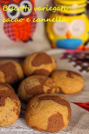 biscotti variegati cacao e cannella