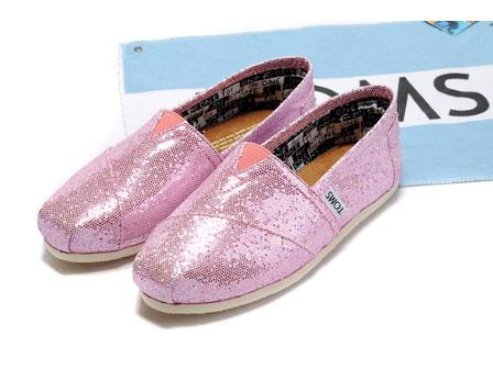 01964857a6f belajarlagi1  Tiny Toms Pink Glitter Classics Shoes