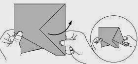 Bước 8: Kéo lớp giấy trên cùng sang phía bên phải.