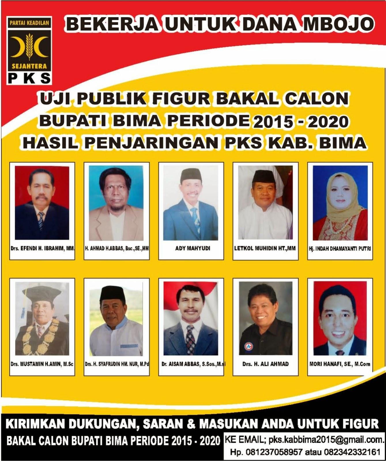 Uji Kelayakan Bakal Calon Bupati Bima 2016-2020 Hasil Penjaringan Partai Kesejahteraan Rakyat Kabupaten Bima