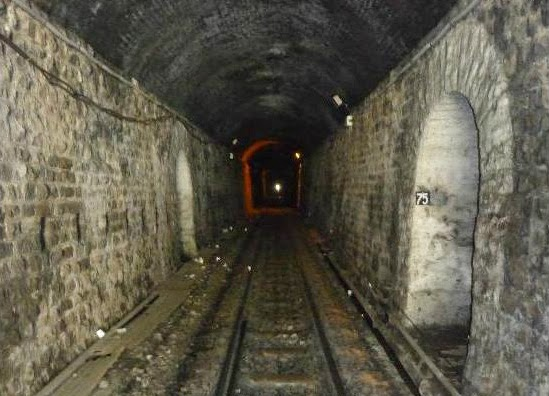 Inside the Barog Tunnel