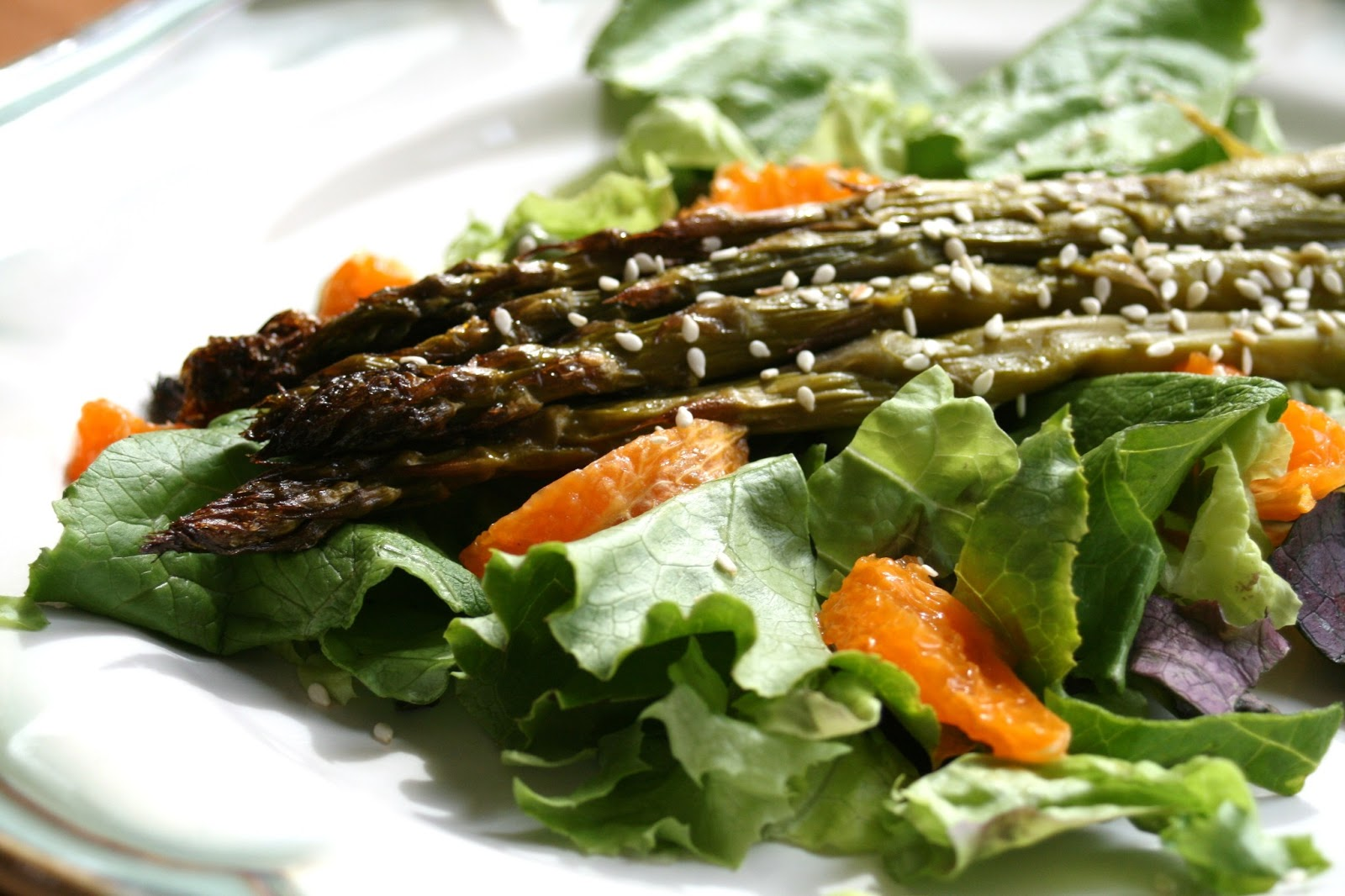 Thee Cook: Roasted Asparagus Salad With Citrus Dressing