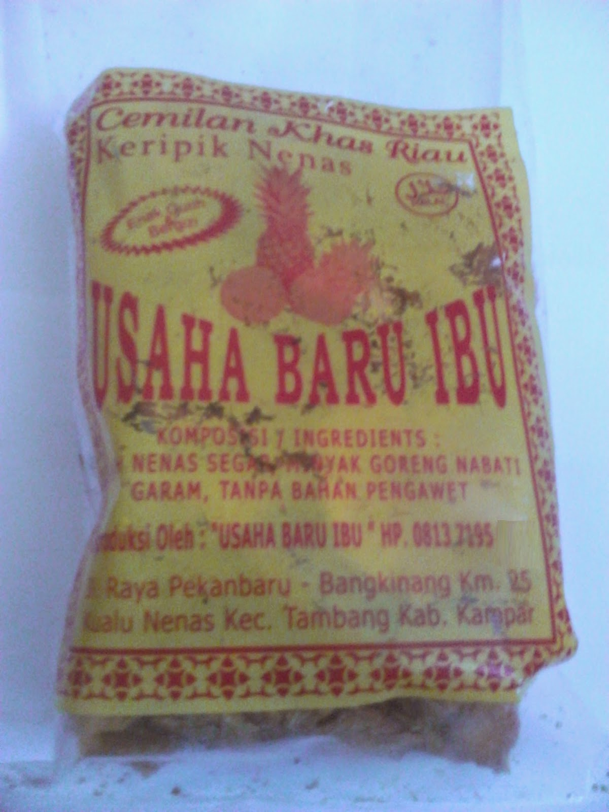 Jual Keripik Nanas Khas Kampar Riau