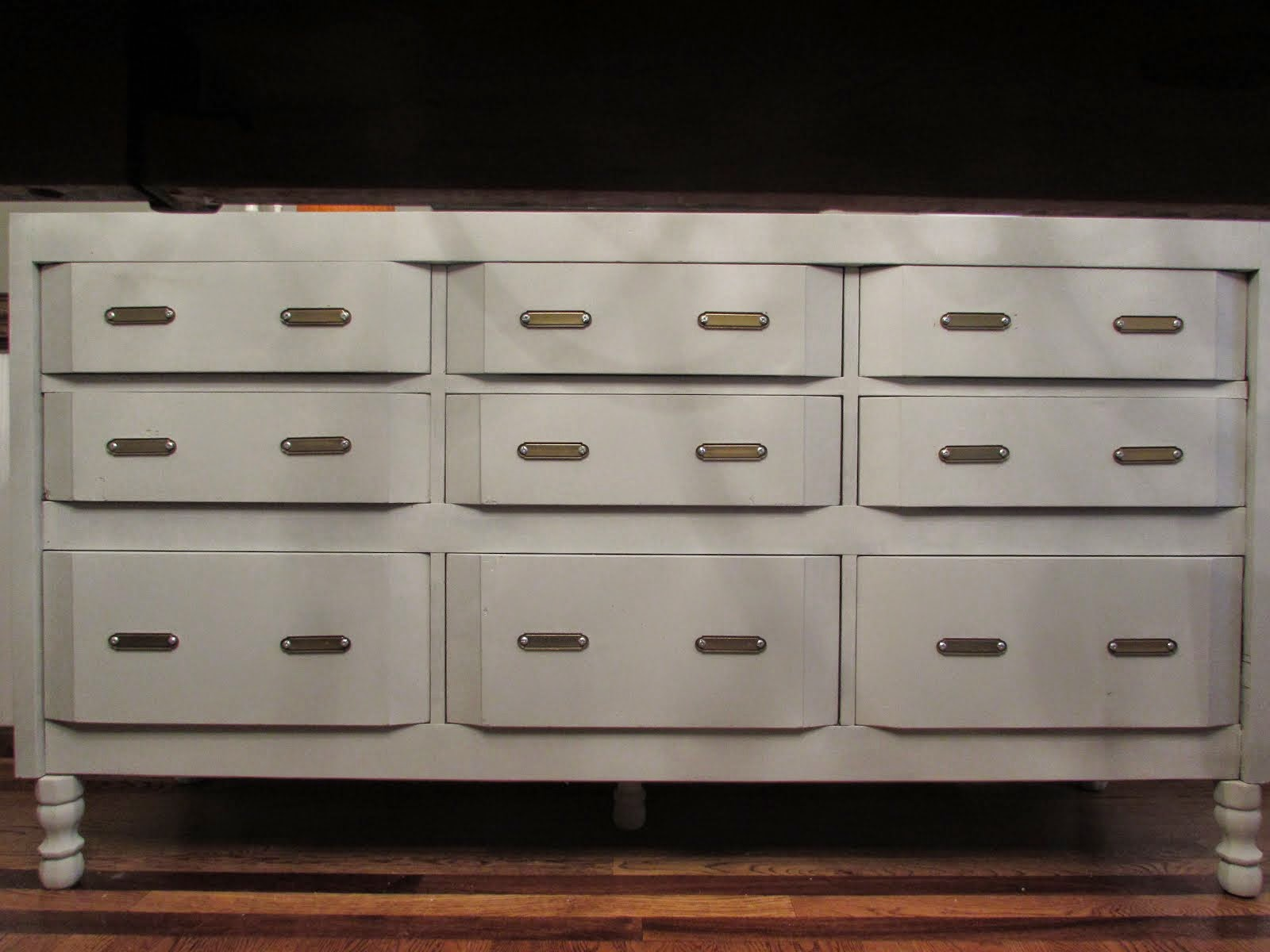 Gray Painted Buffet Table