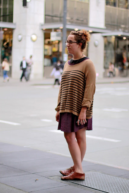 Seattle Street Style Fashion Nordstrom Pine Stripes Collar