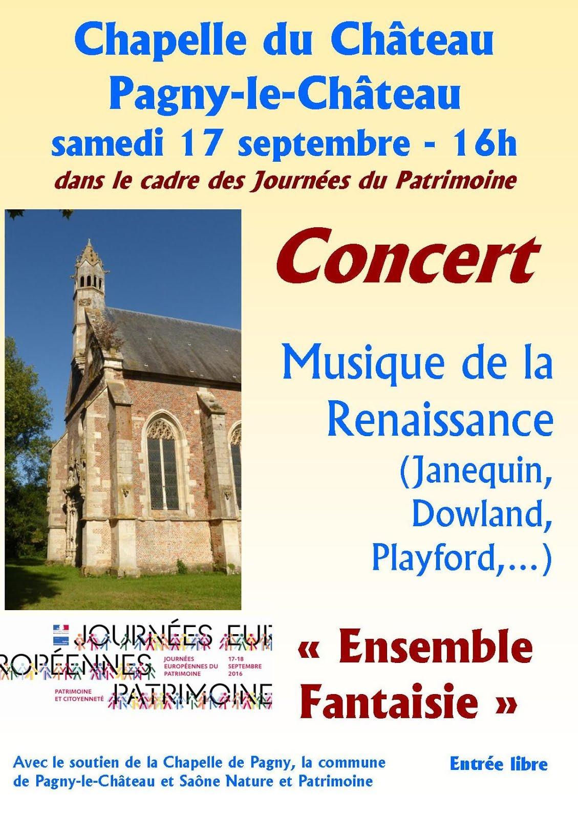 Concert dans le cadre des Journées du Patrimoine soutenu par Saône Nature et Patrimoine