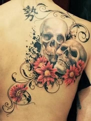 Alternative emotions! skulls and flowers by Steffi Eff