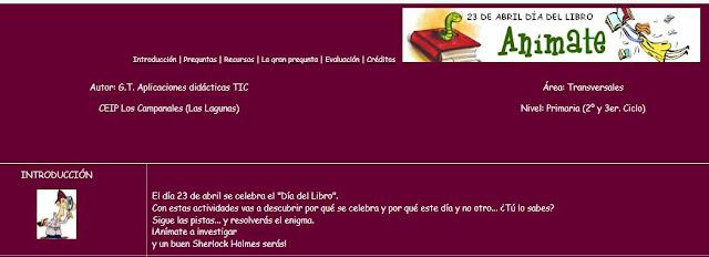 http://www.juntadeandalucia.es/averroes/~29602220/Mi_Caza/Dia_del_Libro3.htm