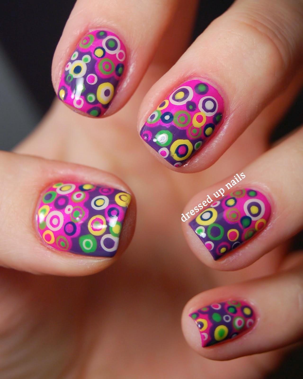 happy birth day nail art