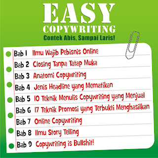 Isi Buku Easy Copywriting dari Dewa Eka Prayoga
