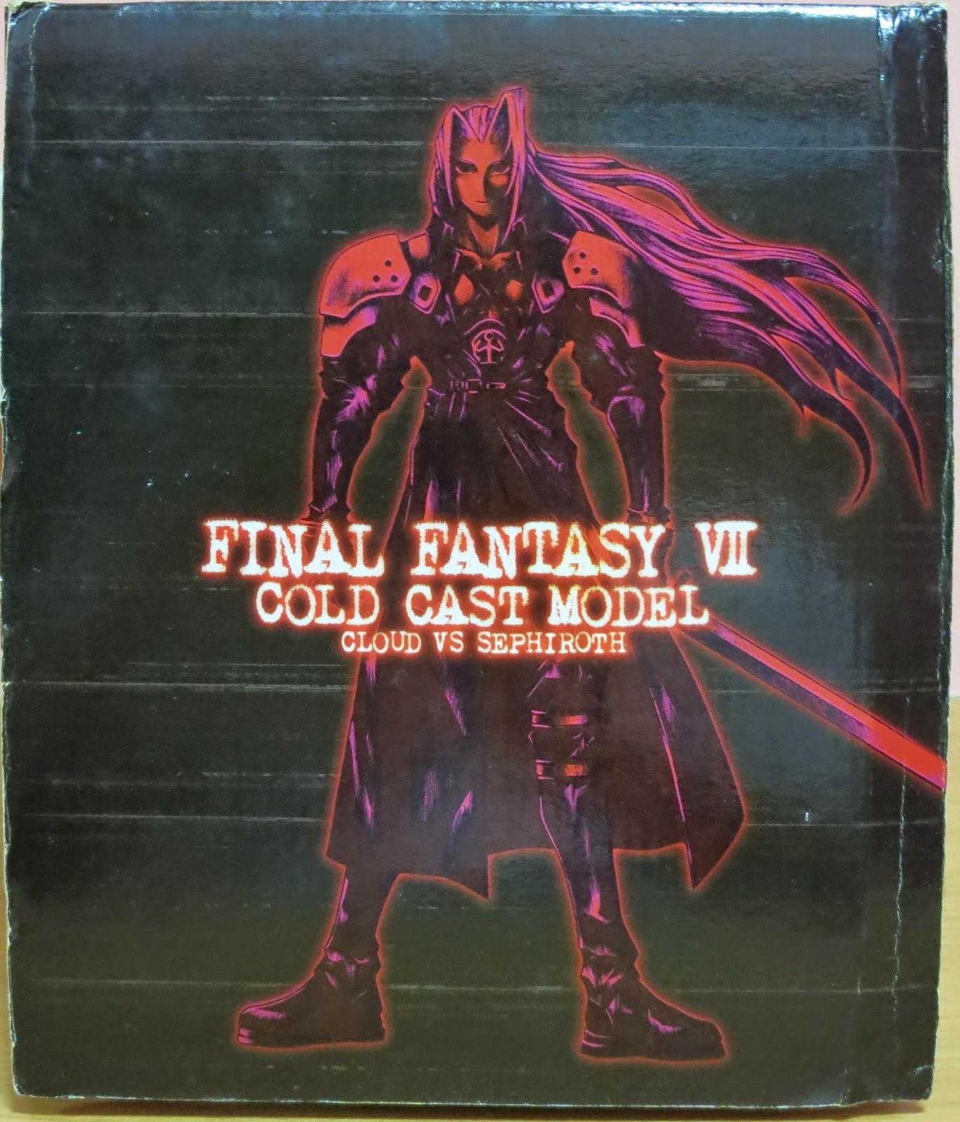 darkrose of sorrow Final Fantasy VII Cold Cast Model Cloud vs
