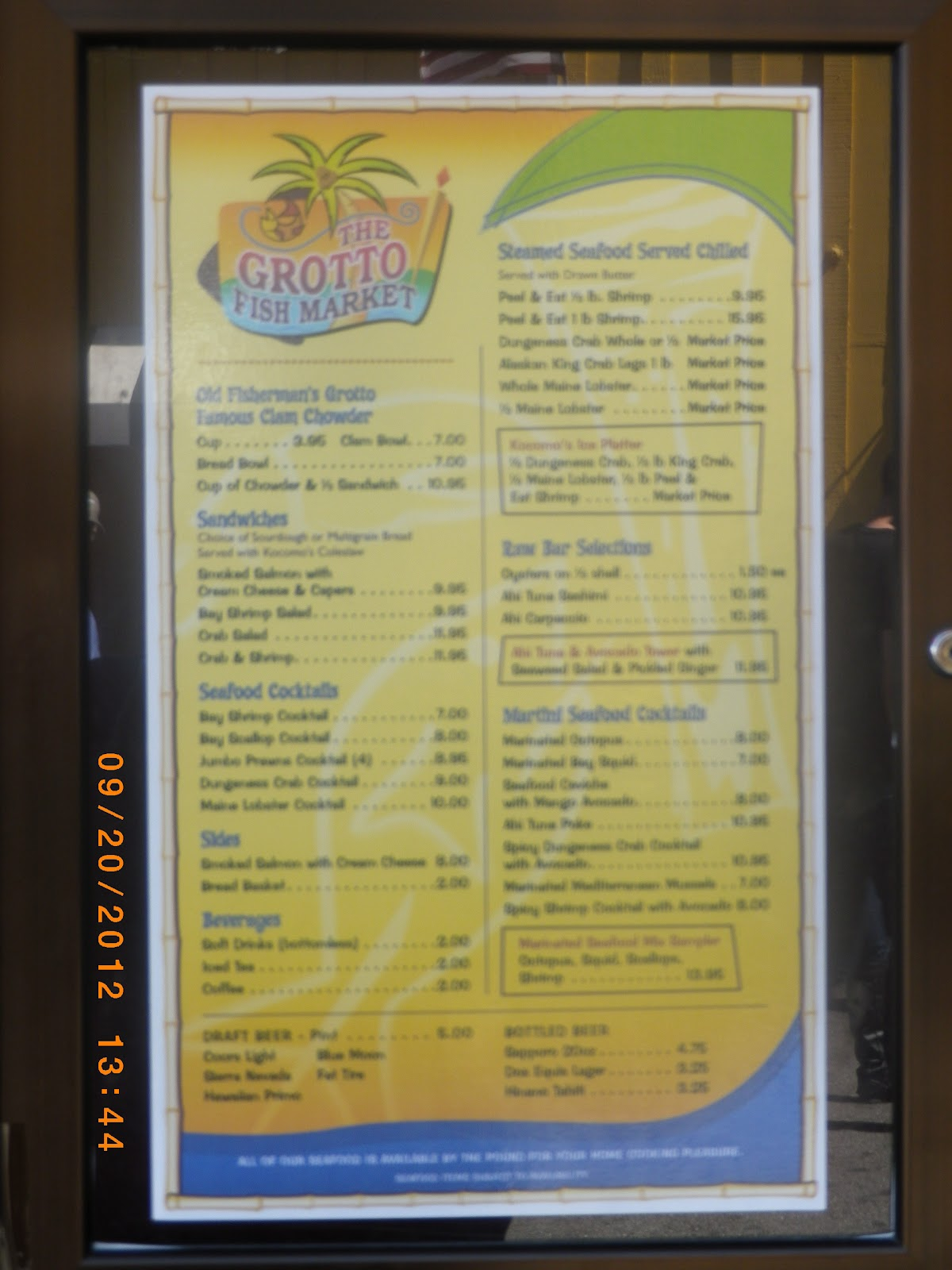 Vc menu grotto 39 s fish market monterey ca for Fish market monterey ca