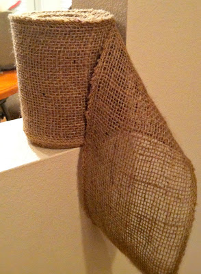 burlap roll for wreath