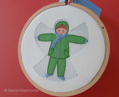 holiday ornament snow angel