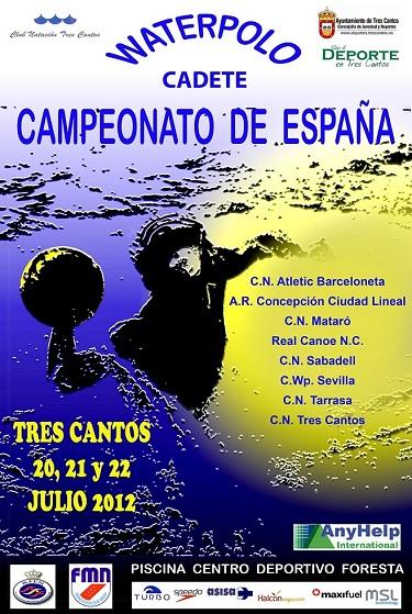 Rbitros de waterpolo campeonato de espa a cadete for Piscina foresta tres cantos