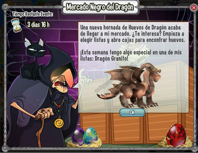 imagen del dragon granito en el mercado negro del dragon