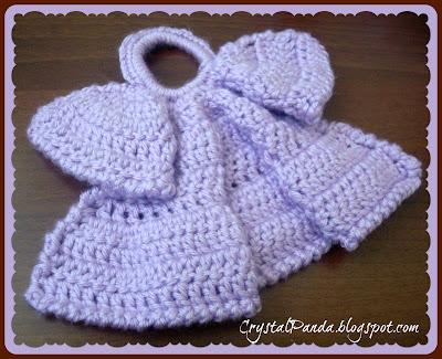 Crochet Angel Dishcloth Free Pattern images