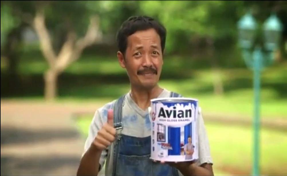 Lelaki Bintang Iklan Avian Synthetic 2013 versi Awas Cat Basah